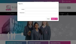 Member's Area - controlled access to content & documents on St John Bosco Art College Website