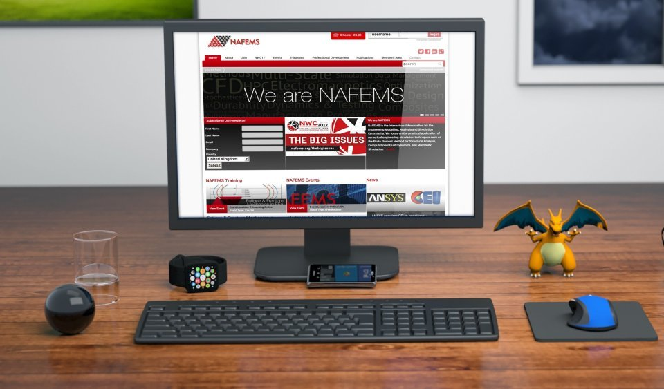 Easy Edit Website Design for NAFEMS who are based in Scotland