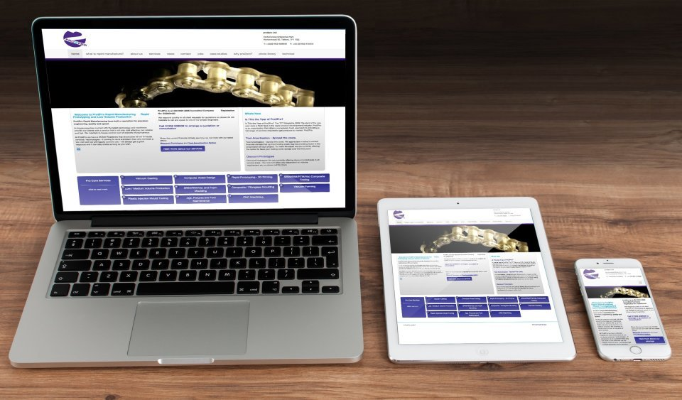 Pro2Pro DuoCMS Editable Website Design based in Telford