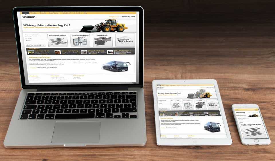 Easy Edit Website Design for Widney Manufacturing who are based in Birmingham