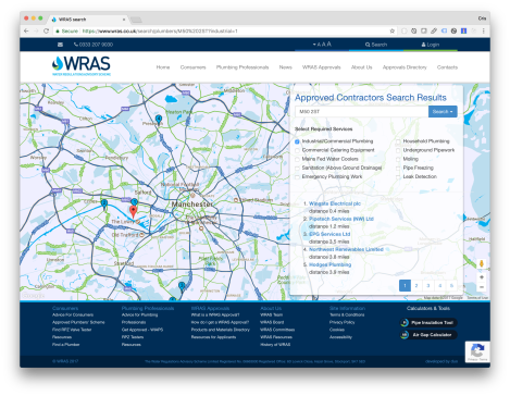 WRAS Advanced Search Functionality