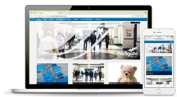 Responsive Shopping Centre Web Design - Wellgate Shopping Centre, Dundee